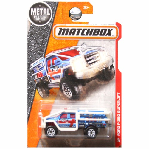 Matchbox 2016 Heroic Rescue Superlift Ford F350 F-350 Super Duty Arctic Recon 3 Blue #73 ...