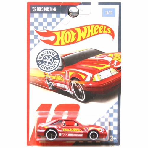 hot wheels 2017 racing circuit 1992 ford mustang red 10. Black Bedroom Furniture Sets. Home Design Ideas