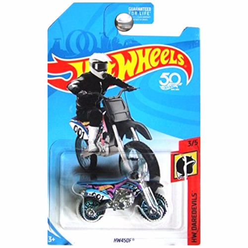hot wheels 2018 hw daredevils moto hw450f dirtbike dirt. Black Bedroom Furniture Sets. Home Design Ideas