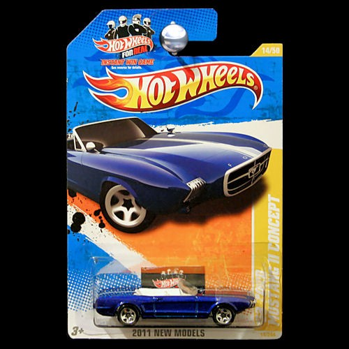 2011 Hot Wheels #14 New Models 14//50 /'63 FORD MUSTANG II CONCEPT Blue Variation