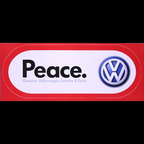 Genuine volkswagen vw peace bumper sticker