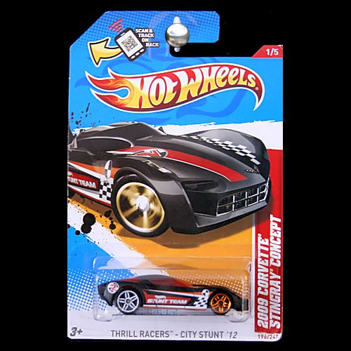 Hot Wheels 2012 Thrill Racers City Stunt 09 Corvette Stingray
