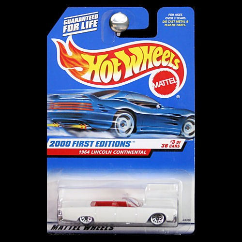 hot wheels 2000 first editions 1964 lincoln continental convertible white. Black Bedroom Furniture Sets. Home Design Ideas