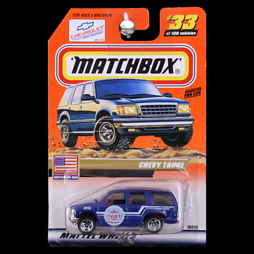 Matchbox 1999 USA Chevy Tahoe City Of Cleveland Ohio Blue