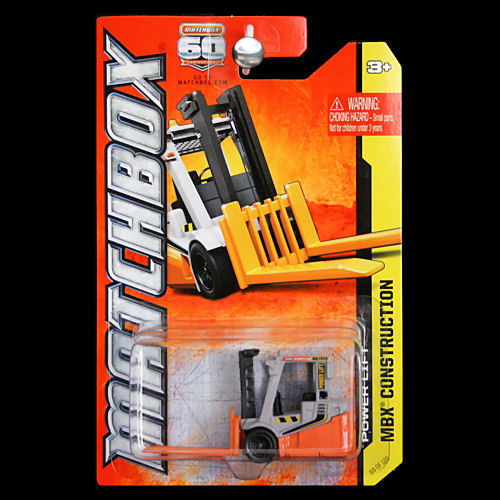 Matchbox 2013 MBX Construction Power Lift Forklift Grey