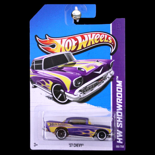 Hot Wheels 2013 Hw Showroom 57 Chevy Bel Air Purple Carminiatures