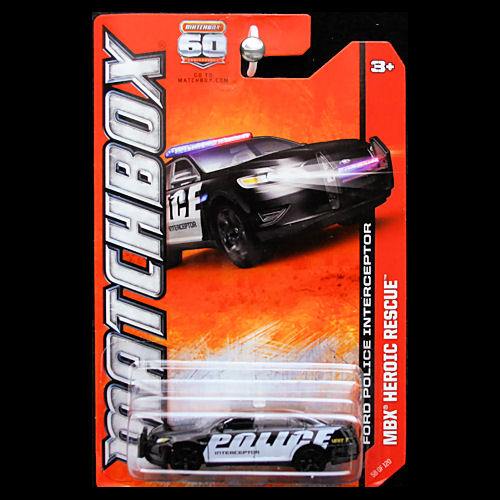 Matchbox 2013 MBX Heroic Rescue Ford Police Interceptor