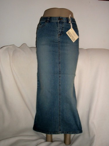 Denim Pencil Fit Long Denim Jean Skirt Juniors