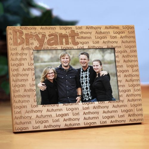 Family Name Personalized Wood Picture Frame ...