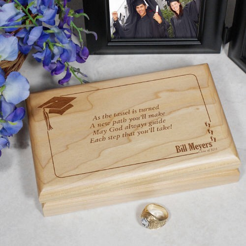 Personalized Engraved Graduation Valet Keepsake Box