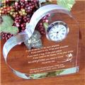 Personalized Friend Keepsake Clock Engraved Friendship Keepsake Clock