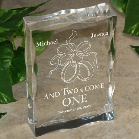 And Two Be Come One Wedding Keepsake  personalized free