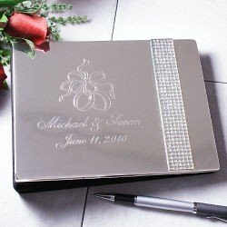 Personalized Engraved Wedding Guest Book Glitter Galore Jpg 5 24 2010