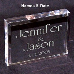 Personalized Wedding Keepsake Engraved Avrylic Cake Topper