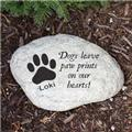 Personalized Dog Memorial Garden Stone Engraved Dog Memorial Garden Stone Marker