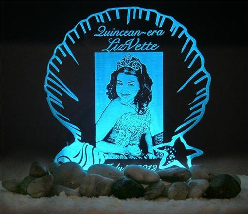 Personalized Photo Cake Topper Sweet 16 Or Quinceanera Optional LED
