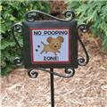 No Poop Zone Garden Stake Dog Puppy No Poop Zone Sign No Poop Zone Yard Stake