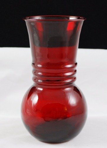 Anchor Hocking Royal Ruby Harding R3345 Vintage Glass Vase Carolinabluelady