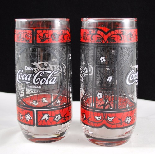 Red Black White Flower Coca Cola Tumbler