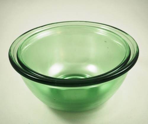 Hazel Atlas Green Plainware Mixing Bowl 1