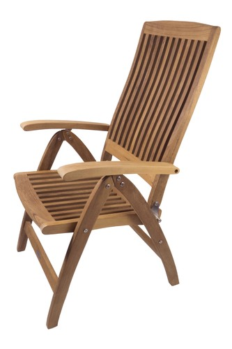 Seateak Weatherly Folding 6 Position Deck Chair 60064
