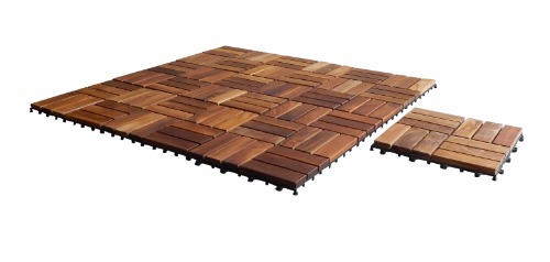 Seateak Interlocking Teak Floor Tiles 10 Pk 60029