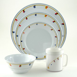 Galleyware Flags Design Dinnerware Set  sc 1 st  Sandieu0027s Galley u0026 More & Galleyware Flags Design Dinnerware Set - Sandieu0027s Galley u0026 More