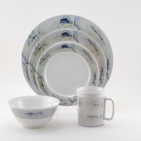 1006_Dinnerware Sets w_Platter_Great Oceans.jpeg & Galleyware Great Oceans Dinnerware Set - Sandieu0027s Galley u0026 More