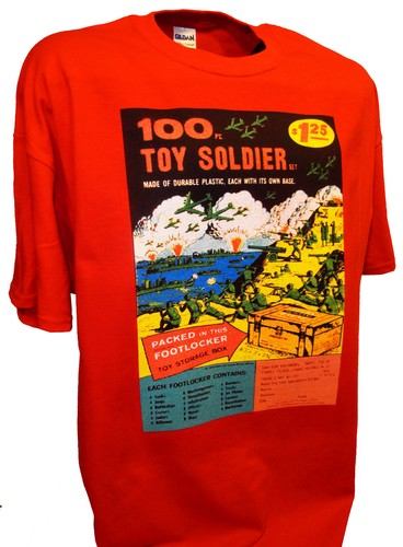 100 Toy Soldiers Armymen Comics War Marx Airfix red.jpeg