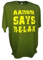 Aaron Rodgers Says Relax  Greenbay Packers Qb Football tee gn.jpeg