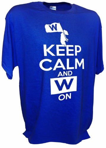 KEEP CALM W CUBS BLU