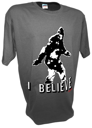 Bigfoot Sasquatch Yeti Paranormal Aliens Sightings t shirt gray.jpeg
