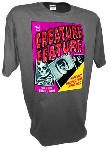 Creature Feature Famous Monsters Frankenstein Wolfman Horror gray.jpeg