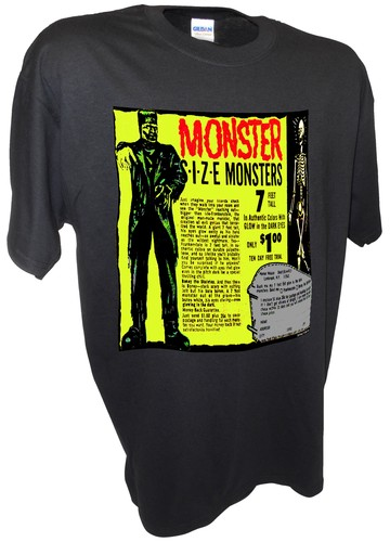Monster Sized Frankenstein Skeleton Horror Movie Comic Book black.jpeg