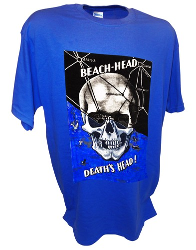 Deaths Head Skull anzio Ww2 German Propaganda Poster blue.jpeg