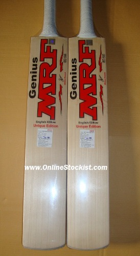 MRF GENIUS UNIQUE EDITION Grade 1  English Willow Cricket Bat - SHIKHAR DHAWAN 2018-2019