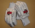 BDM All White PRO Cricket Batting Gloves 2017