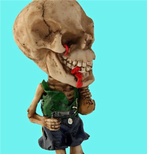 Collectible Pirates Skull Bobble Head - Caribbean Jack