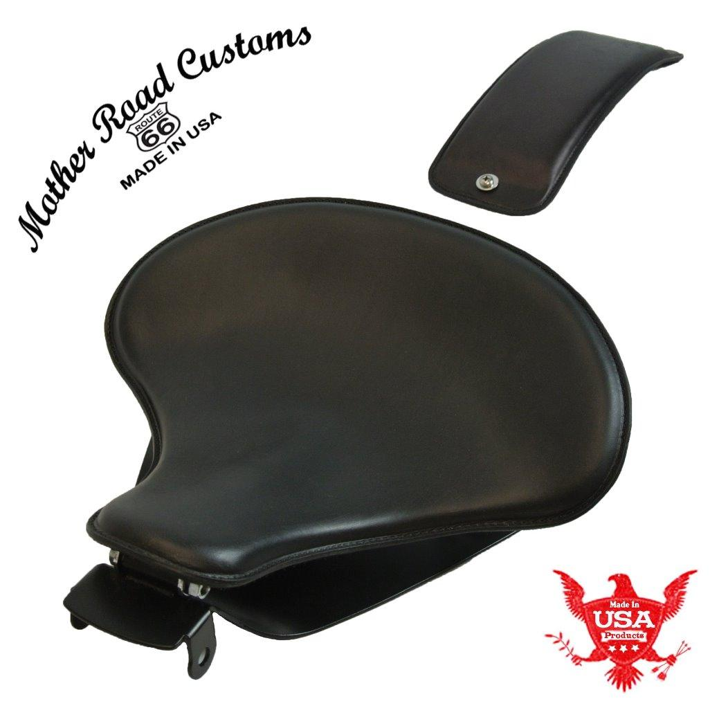 "2010-2019 Sportster 15x14"" Black Veg Leather Spring Seat P-Pad Mounting Kit  bc"