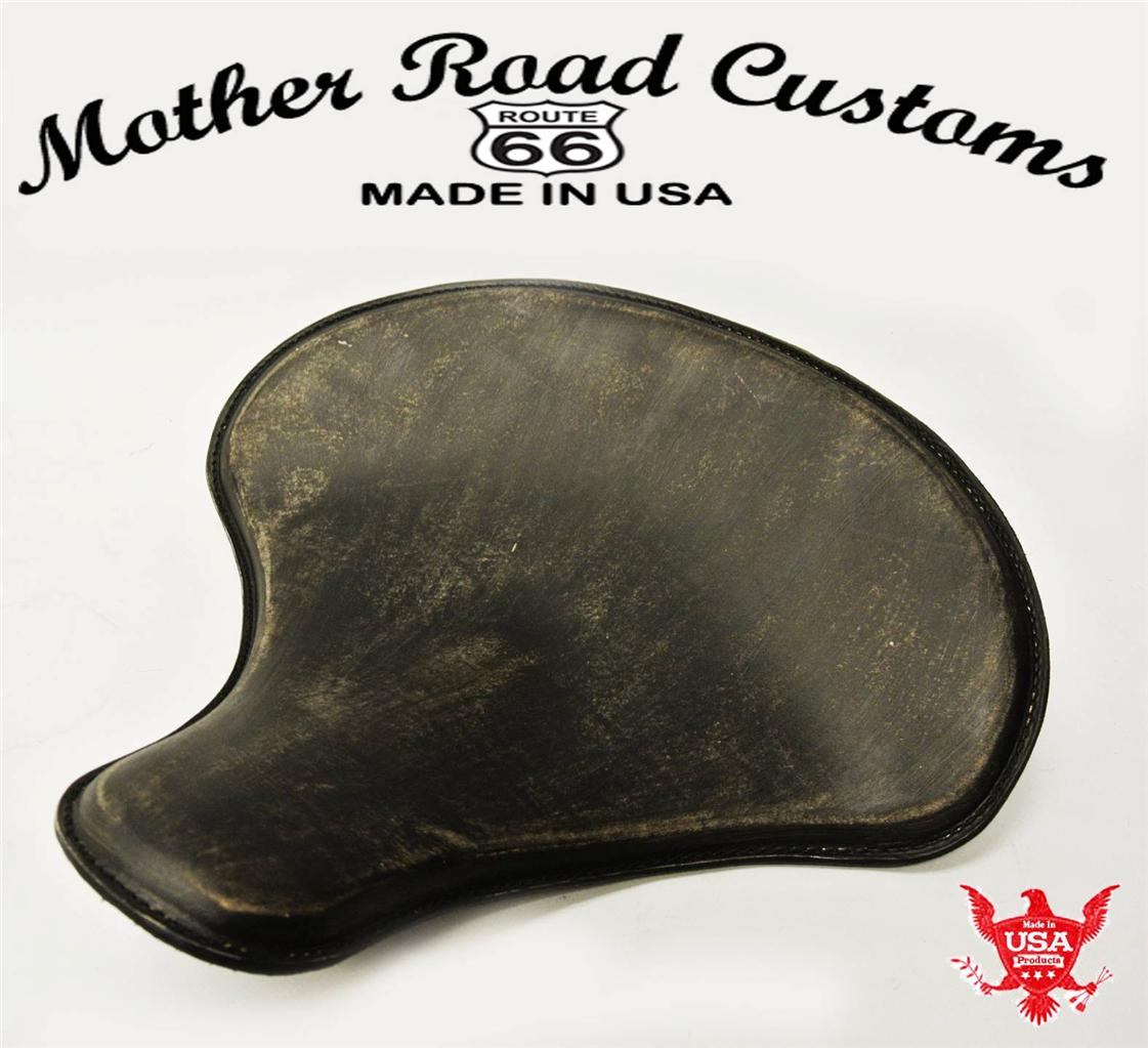 Tractor Seat Motorcycle : Quot black ds leather spring solo tractor seat chopper