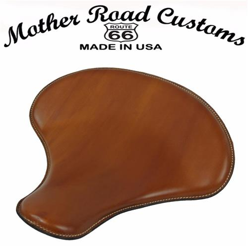 "15x14"" Desert Tan Leather Spring Solo Tractor Seat Harley Sportster Indian Scout"
