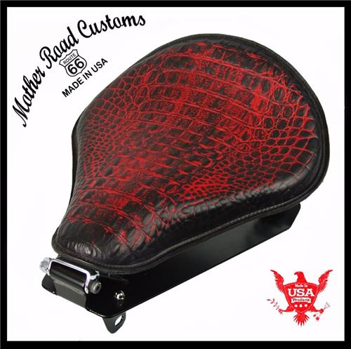 2014-2018 Yamaha Bolt Ant Red Alligator Leather Spring Seat Conversion Kit R-Spec Star xv950 bcs