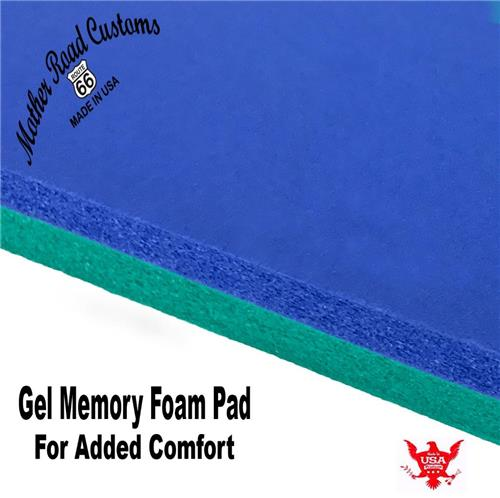 "Add This 1"" Gel Memory Foam Pad Combo To Your Seat Sportster Softail Bobber Cafe_Img"