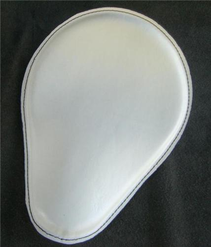 White With Stitching Spring Solo Seat Chopper Bobber Harley ...