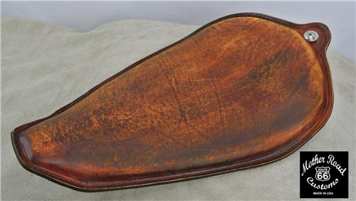 1982-2003 201 Brown Distressed Leather On The Frame Seat Sportster Harley  Steel USA