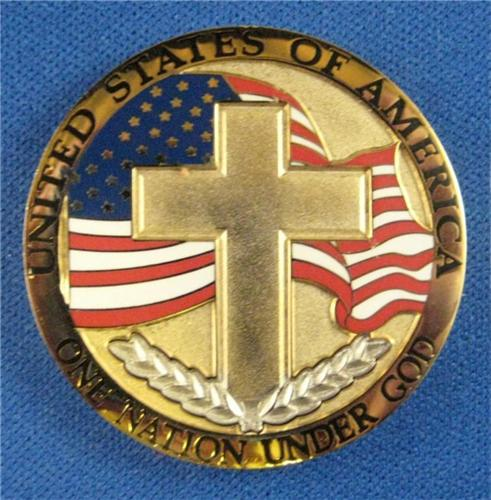 GOLD  SILVER PLATED - SERENITY PRAYER COLLECTIBLE COIN
