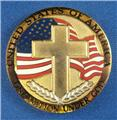 SERENITY PRAYER COLLECTIBLE COIN - GOLD  SILVER PLATED