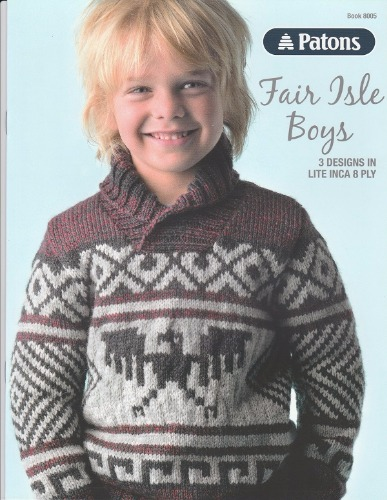Fair Isle Boys Patons Knit Pattern Book Jannz Crafts