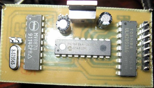 DTMF DECODER CONTROLLING 8 RELAYS WITH PIC