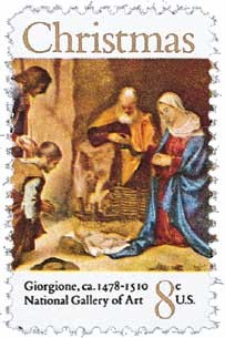 Scott #1444 8c Christmas Adoration of the Shepherds - MNH.jpg